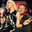Gwen Stefani et Blake Shelton sur le plateau de The Voice USA. 2014