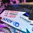 La nouvelle voiture du prochain Trophée Andros de l'équipage Oliveir et Jean-Pierre Pernaut accompagné de Margot Laffite à Paris le 26 novembre 2015, sur un bateau-mouche © Lionel Urman