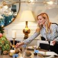 Reese Witherspoon met la table pour Thanksgiving décorée avec les objets de décoration de sa marque Draper James / photo postée sur Instagram, le 27 novembre 2015.