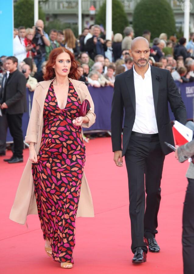 """Audrey Fleurot enceinte et son compagnon Djibril Glissant - Avant-première du film """"Everest"""" et soirée d'ouverture lors du 41e Festival du film américain de Deauville, le 4 septembre 2015."""