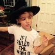Bronx Mowgli, le fils d'Ashlee Simpson et Pete Wentz fête ses 7 ans à Aspen / photo postée sur Instagram au mois de décembre 2015.