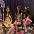 Flora Coquerel : avec d'autres reines de beauté pour Miss Univers 2015 à Las Vegas