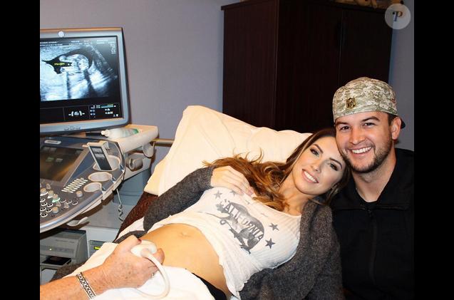 Katherine Webb et son mari attendent leur premier enfant / photo postée sur Instagram au mois de décembre 2015.