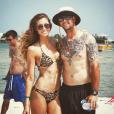 Katherine Webb et son mari Aj McCarron à la plage / photo postée sur Instagram au mois de 2015.