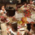 Monroe et Moroccan, les enfants de Mariah Carey font à manger pour le Père Noël, chez leur père Nick Cannon / photo postée sur Instagram, le 18 décembre 2015.