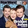 Patrick Dempsey, Renée Zellweger et Colin Firth, le trio de Bridget Jones 3, en couverture d'Entertainment Weekly.