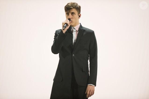 Loic Nottet (Belgique) - Répétitions (en tenues) de la finale de l'Eurovision 2015 à Vienne, le 22 mai 2015.