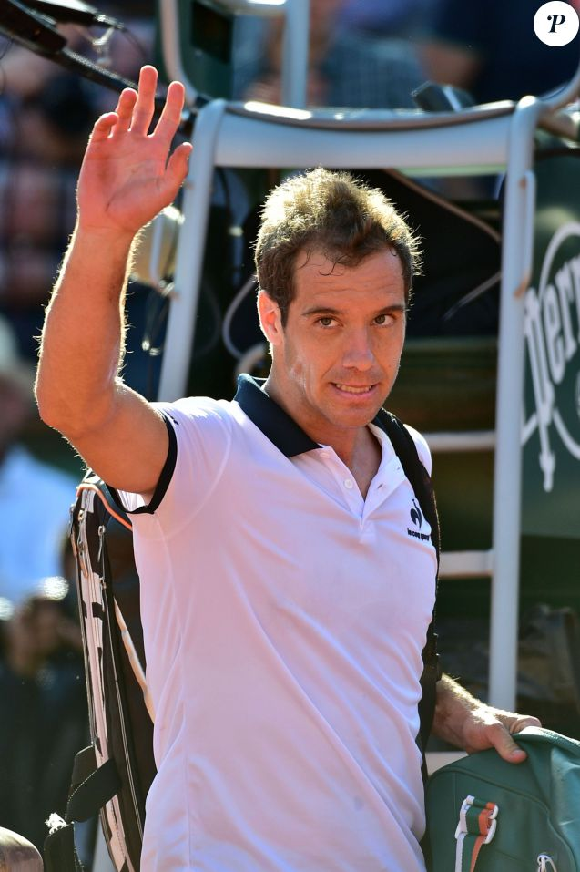 Richard Gasquet lors des Internationaux de France de Roland Garros le 30 mai 2015.