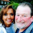 Karine Le Marchand a pris la pose avec François de  L'amour est dans le pré  9. Septembre 2015.