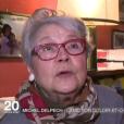Christiane Vauquelin, la Laurette du chanteur, rend hommage à Michel Delpech - JT de France 2, dimanche 3 janvier 2015.