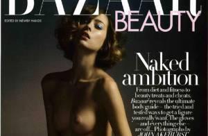 PHOTOS : Un top français fait la couverture du 'Bazaar Beauty' anglais... Nue, mais classieuse !