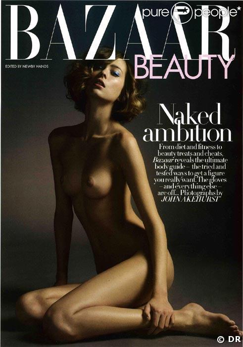 Morgane Dubled en couverture de Bazaar