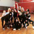 Alizée, Grégoire et les danseuses de DALS le 6 janvier 2016.