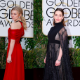 Natalie Dormer et Emilia Clarke lors des Golden Globes le 10 janvier 2016 à Los Angeles (photomontage)