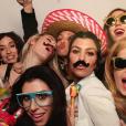Kourtney Kardashian fait la fête avec ses copines pour l'anniversaire de son ami Melissa. Photo postée sur Instagram, le 10 janvier 2016.