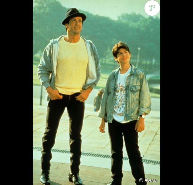 Sylvester Stallone et son fils Sage sur le tournage de Rocky V