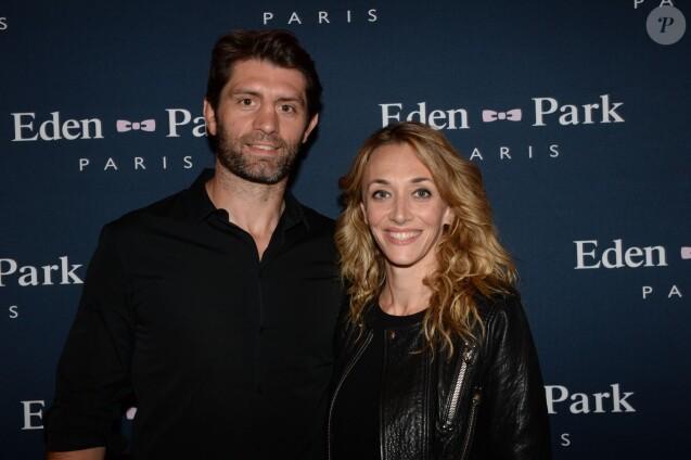 """Exclusif - Pierre Rabadan et sa compagne Laurie Delhostal à l'avant-première du film """"On voulait tout casser"""" au cinéma Gaumont Marignan à Paris, le 27 mai 2015."""