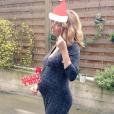 Laurie Delhostal enceinte - décembre 2015