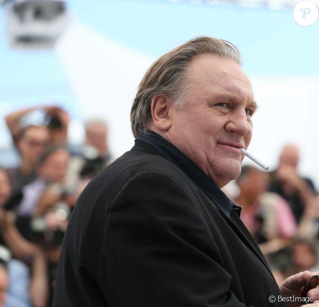 """Gérard Depardieu - Photocall du film """"Valley of Love"""" lors du 68e festival de Cannes le 21 mai 2015."""