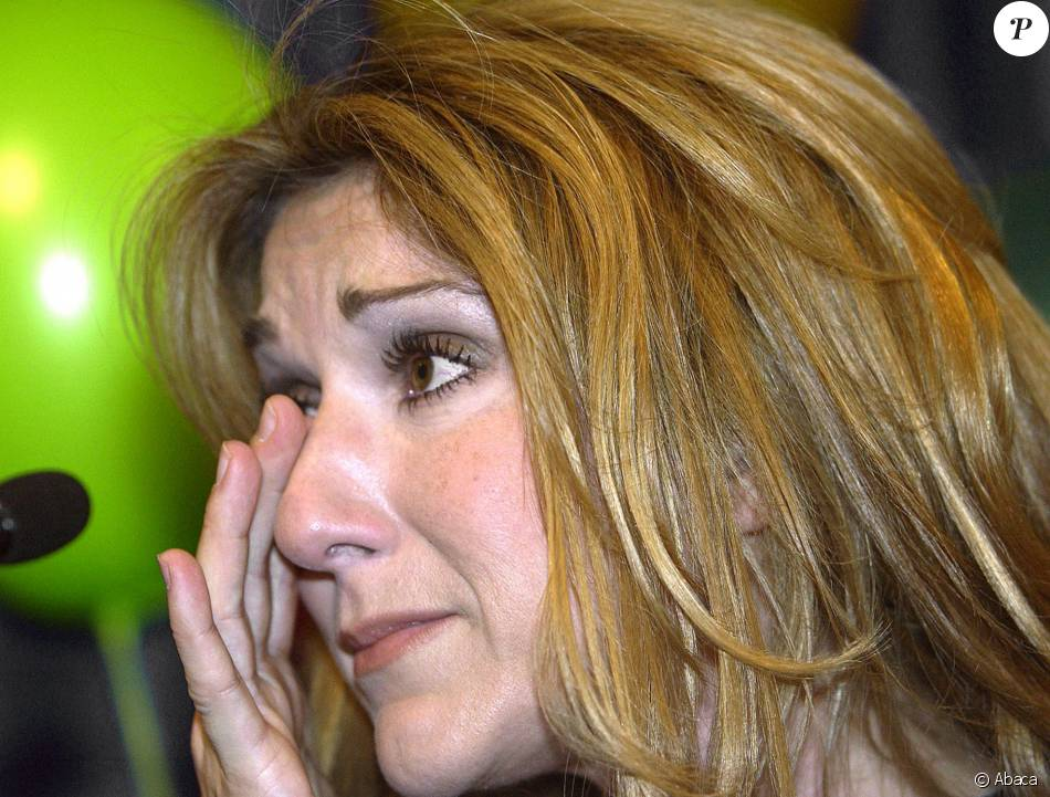 Céline Dion à Montréal le 18 décembre 2002.