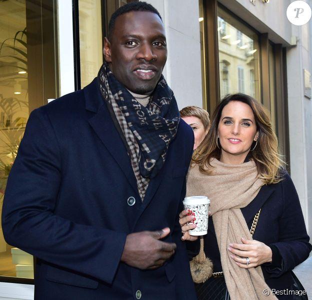 Exclusif - Omar Sy et sa femme Hélène à l'inauguration de la plaque commémorative pour Rafael Padilla (dit Le clown chocolat) à Paris le 20 janvier 2016