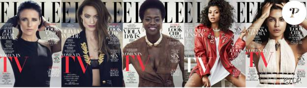 Julia Louis-Dreyfus, Olivia Wilde, Viola Davis, Taraji P. Henson et Priyaka Chopra sont les stars du petit écran à l'honneur du magazine ELLE américain pour le numéro de Février 2016.