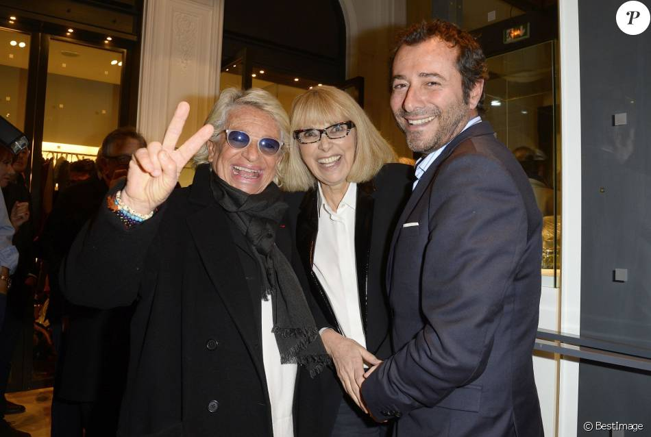 v ronique de vill le mireille darc et bernard montiel vernissage de l 39 exposition des. Black Bedroom Furniture Sets. Home Design Ideas