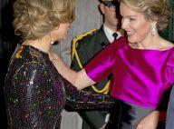 Maxima des Pays-Bas et Mathilde de Belgique, glamour même blessée, de concert