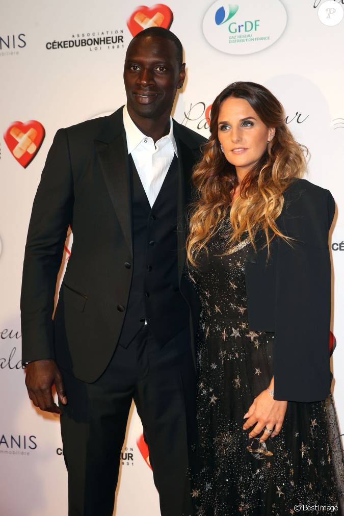 omar sy et sa femme h l ne personnalit s au gala par coeur pour les 10 ans de l 39 association. Black Bedroom Furniture Sets. Home Design Ideas