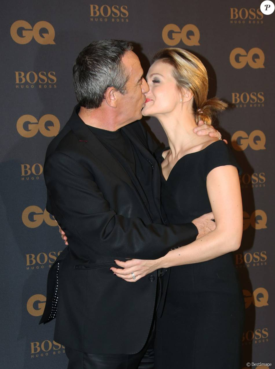 gq awards thierry ardisson et audrey un baiser devant. Black Bedroom Furniture Sets. Home Design Ideas