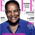 Christiane Taubira en une du magazine  Elle , daté du 22 novembre 2013.