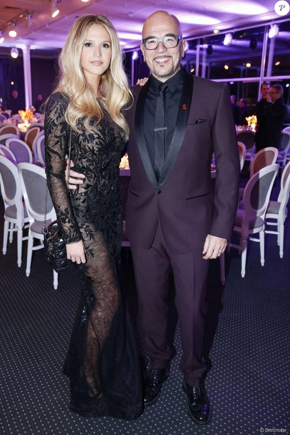 Pascal Obispo et Julie Hantson -  Dîner de la mode 2016 pour le Sidaction au pavillon d'Armenonville à Paris, le 28 janvier 2016. ©Olivier Borde/Bestimage