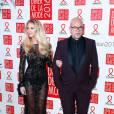 Pascal Obispo et Julie Hantson - Dîner de la mode 2016 pour le Sidaction au pavillon d'Armenonville à Paris, le 28 janvier 2016.
