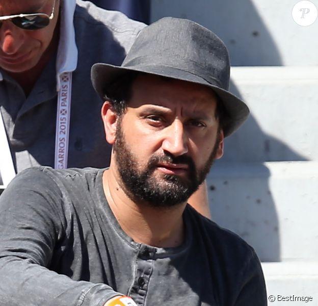 Cyril Hanouna - People dans les tribunes lors de la finale des Internationaux de tennis de Roland-Garros à Paris, le 6 juin 2015.