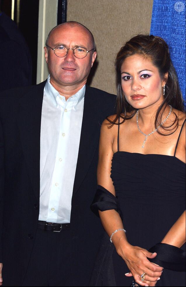 Phil Collins avec son épouse Orianne lors des Songwriters Hall Of Fame Awards au Marriott Marquis Hotel de New York, le 12 juin 2003