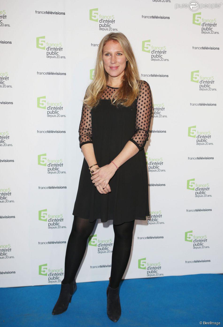 Agathe Lecaron - Soirée du 20ème anniversaire de France 5 à la Cité de la mode et du design à Paris, le 27 novembre 2014.