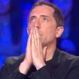 Gad Elmahe impressionné et effrayé dans Le Gros Show de Cyril Hanouna, sur D8, le 10 février 2016. (capture d'écran)