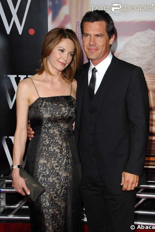 Diane Lane et Josh Brolin à la première de W, à New York, le 14/10/08