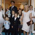Marie-Chantal et Pavlos et tous leurs enfants