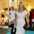 Marie-Chantal de Grèce (ici avec Odusseas-Kimon) inaugure sa nouvelle boutique à Londres, le 14/10/08