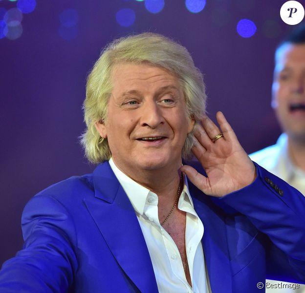 Exclusif - Patrick Sébastien sur le tournage des Années Bonheur, en mars 2015 (diffusion le 2 avril 2015 sur France 2).