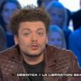 L'humoriste et comédien Kev Adams dans Salut les terriens, le 20 février 2016 sur Canal +.