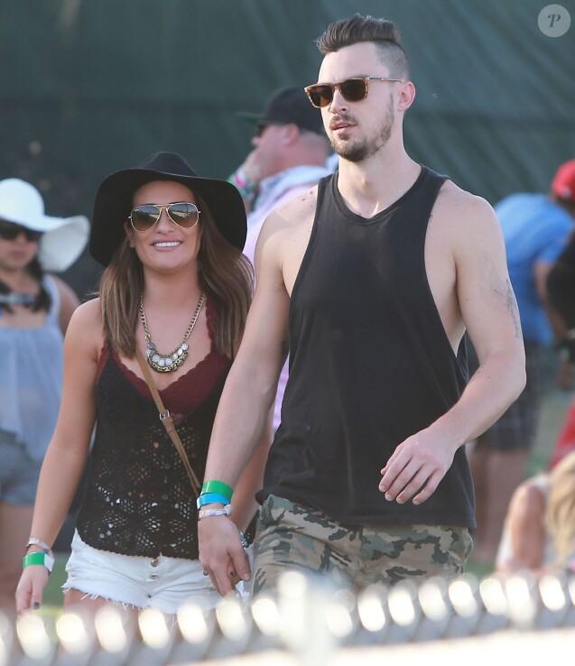 """Lea Michele et son petit ami Matthew Paetz au 2ème jour du Festival """"Coachella Valley Music and Arts"""" à Indio, le 11 avril 2015"""