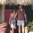 Exclusif - Lea Michele et son petit-ami Matthew Paetz profitent de la plage le jour de Noël lors de leurs vacances au Mexique, le 25 décembre 2014.