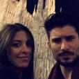 """Alia et Ali (""""Secret Story 9""""), très proches à Milan pour le Nouvel An. Le 31 décembre 2015."""