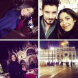 """Alia et Ali (""""Secret Story 9""""). Après Milan, les """"amis"""" profitent d'un séjour à Venise ! Janvier 2016."""