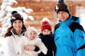 Kate, William, George et Charlotte de Cambridge: 1er séjour à la neige en images