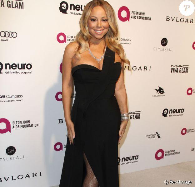 Mariah Carey à la soirée Elton John AIDS foundation 2016 à West Hollywood Park à West Hollywood, le 28 février 2016