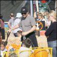 Christian Slater à la pêche aux citrouilles