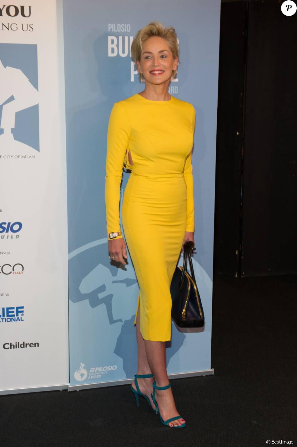 """Sharon Stone à la soirée """"Pilosio Building Peace Award 2015"""", le 13/09/2015 - Milan"""